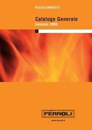 FERROLI gamma prodotti 2003 - Certificazione energetica edifici