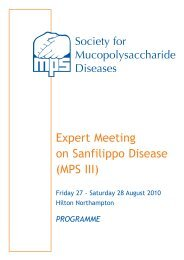 Expert Meeting on Sanfilippo Disease (MPS III) - Fondation ...