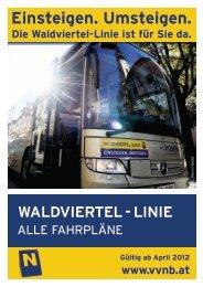 Folder Waldviertel-Linie inkl. Uebersichtsplan