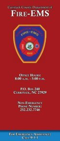 Fire EMS.indd - Currituck County Government - Page 6