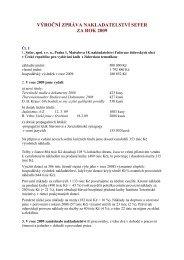 Výroční zpráva nakladatelství Sefer za rok 2009 - Federace ...