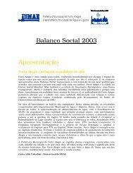 Balanço Social 2003 Apresentação - Prefeitura Municipal de Porto ...