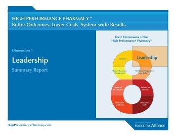Dimension 1: Leadership - High Performance Pharmacy