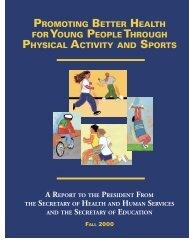 promoting better health foryoung people through ... - About the USA