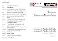 Programm Konzert 2009
