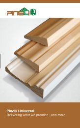 Pinelli Interior Mouldings Brochure - Universal Forest Products