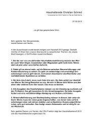 Haushaltsrede Christian Schmid, CDU-Fraktion - Stadt Werne