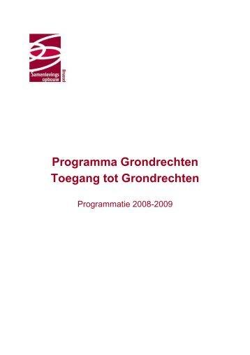 Programma Grondrechten Toegang tot Grondrechten