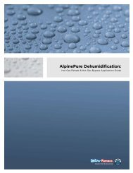 AlpinePure dehumidification: - WaterFurnace