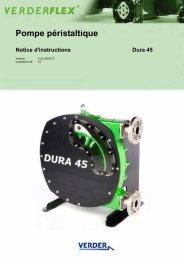 Pompe péristaltique Notice d'instructions Dura 45 - Verderflex