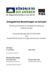 Energetische Bewertungen an Schulen - Bündnis 90/Die Grünen im ...