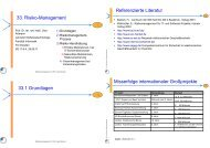 33-risikomanagement - Lehrstuhl für Softwaretechnologie