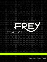 Document de référence 2010 - FREY