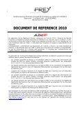 Document de référence 2010 - FREY - Page 2
