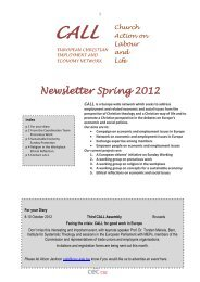 Newsletter Spring 2012 - Church and Society Commission