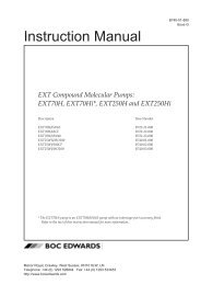 Instr Manual: EXT Compound Molecular Pumps: EXT70H ... - Edwards