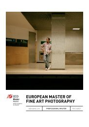 EuropEan MastEr of finE art photography - IED Madrid