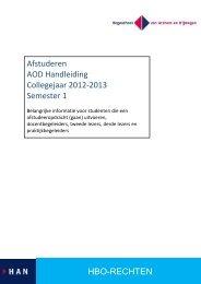 HBO-RECHTEN Afstuderen AOD Handleiding Collegejaar 2012 ...