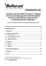 Schlussbericht: E 104 Beeinflussung des Anteils Grosseier (> 70g ...