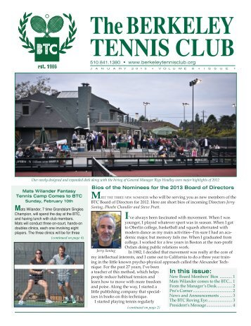 MEET - The Berkeley Tennis Club