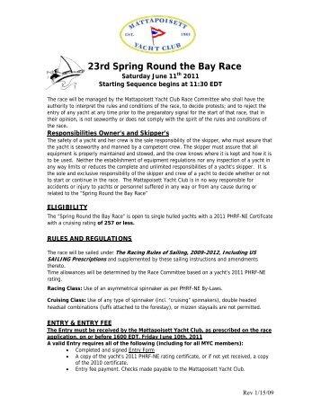 23rd Spring Round the Bay Race - Mattapoisett Yacht Club