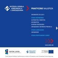 informator WSKiZ3.17 MB - Wyższa Szkoła Komunikacji i Zarządzania