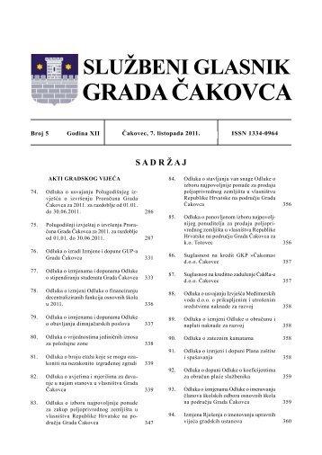 službeni glasnik grada čakovca - Grad Čakovec