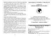 Fakulta medzinárodných vzťahov - Ekonomická univerzita v Bratislave