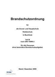 Brandschutzordnung Teil B - Heideschule Buchholz