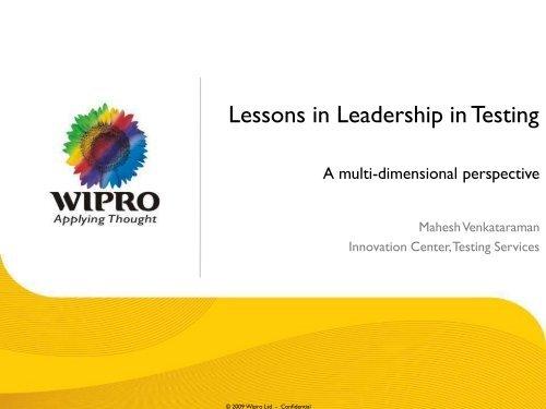 Wipro Presentation Template