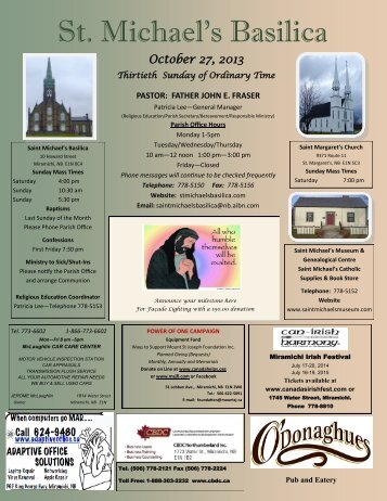 October 27, 2013 - St. Michaels Basilica