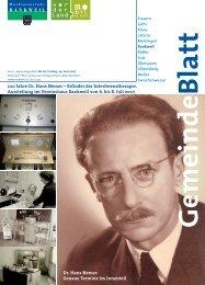 100 Jahre Dr. Hans Nemec - Marktgemeinde Rankweil