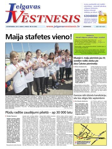 2013.gada 2.maijs Nr.18(305) - Jelgavas Vēstnesis