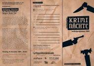 herbstprogramm 2009 - Stuttgarter Kriminächte