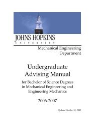 Advising Manual 2006-2007 (PDF) - Mechanical Engineering ...