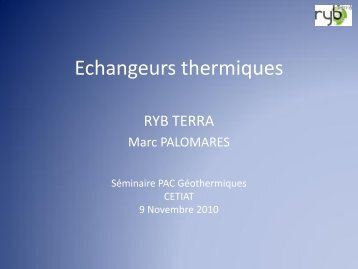 Echangeurs thermiques - GROUND-MED project