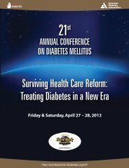 Annual Conference on Diabetes Mellitus - American Diabetes ...