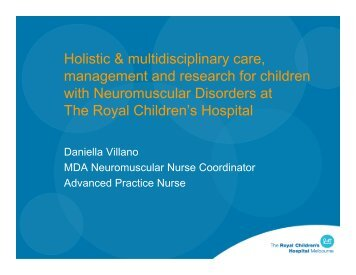Holistic & multidisciplinary care, management and research for ...