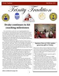 FALL ALUM NEWSLETTER PAGE 1 - Trinity Catholic High School