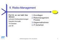 Risikomanagement - Lehrstuhl für Softwaretechnologie
