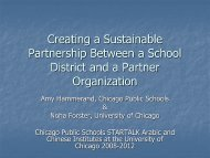 Building a Sustainable Partnership with a Local ... - StarTalk