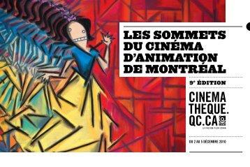 Programme des Sommets du cinéma d'animation 2010 - La ...
