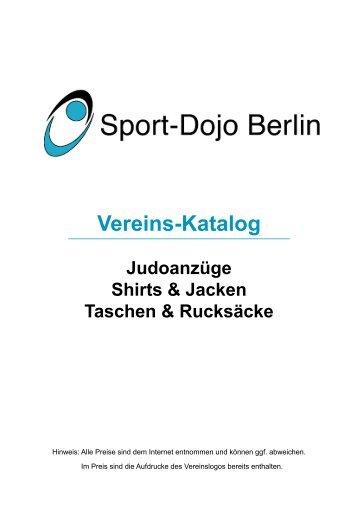 Vereins-Katalog Judoanzüge Shirts & Jacken ... - Sport-Dojo Berlin
