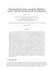 Exponential growth, energetic Hubbert cycles - Tadeusz (Tad) Patzek
