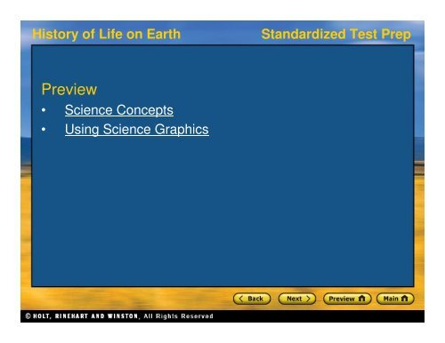 Standardized Test Prep History Of Life On Earth