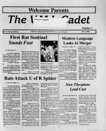 The Cadet. VMI Newspaper. October 04, 1991 - New Page 1 [www2 ...