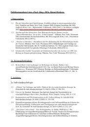Publikationsliste Univ.-Prof. Mag. DDr. Bernd Rieken: