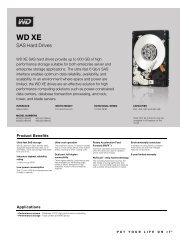 WD XE 2.5-inch Disti Spec Sheet - Mullet.se