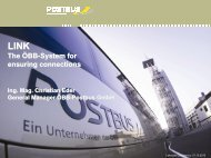 The ÖBB-System for ensuring connections - Lakeside Conference