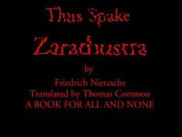 Thus Spake Zarathustra - Penn State University
